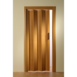 Falttür, Höhe nach Maß, Buchefarben ohne Fenster 119 cm
