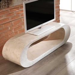 TV Lowboard aus Stein Oval