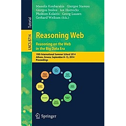 Reasoning Web. Reasoning and the Web in the Big Data Era - Buch