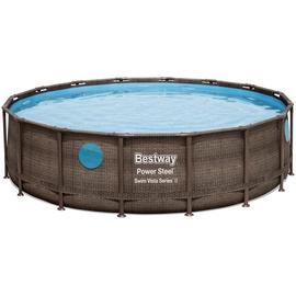 BESTWAY Power Steel Swim Vista Series Frame Pool Set 488 x 122 cm inkl. Filterpumpe