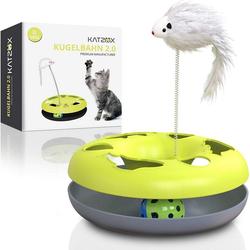 KATZOX© Tier-Kugelbahn KATZOX Premium Katzenspielzeug Kugelbahn, Kunststoff
