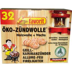 Feueranzünder Öko Zündwolle, 5 Packungen je 32 Stück