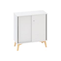 Büroschrank root mit schiebetür, 800 x 450 x 887 mm, weiß