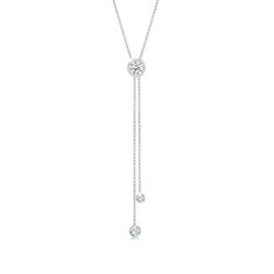 Elli Collierkettchen Y-Kette Kreis Geo Kristalle 925 Silber