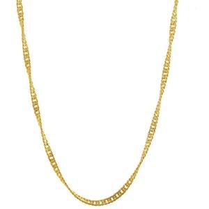 HOPLO Goldkette 1,0 mm 40 cm 585 - 14 Karat Gelbgold Singapurkette (inkl. Schmuckbox)