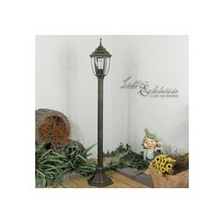 Licht-Erlebnisse Außen-Stehlampe NIZZA Stehlampe Garten Aluguss antik Wegelampe Hof Garten Außen Lampe