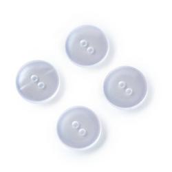 PRYM Kittel-und Schlafanzugknöpfe, 15mm, perlmutt, 100% Kunststoff, Bekleidungsverschlüsse, Knöpfe