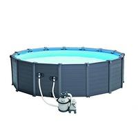 Intex Graphite Panel Pool 478 x 124 cm inkl. Sandfilteranlage (26382)