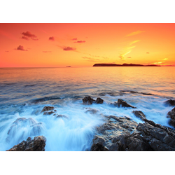 Papermoon Fototapete Dubrovnik Sunset, glatt 5 m x 2,8 m