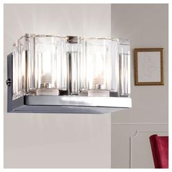 Globo Wandleuchte, Wandlampe Design Wandleuchte Chrom Glas Kristall Lampe Licht Globo Cubs 56440-2
