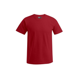 Promodoro T-Shirt Premium T-Shirt Rundhals in Übergröße rot