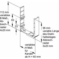 Niedax Drahthaltesteg VHT 60.040