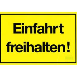 Gebotsschild gelb 'Einfahrt freihalten' - 300x200mm