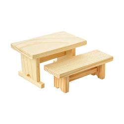 VBS Dekofigur Holzbank und -tisch, 2 Stück