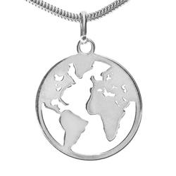 Adelia´s Kettenanhänger Weltkugel Anhänger 925 Silber
