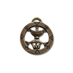 Adelia´s Amulett Alte Symbole Talisman, Pentakel der Königin - Für dauerhafte Zuneigung und Treue