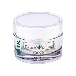 AloeVernis® BASIC aloe vera COLLAGEN night cream 50 ml + 2 BABOR GRATIS AMPULLEN