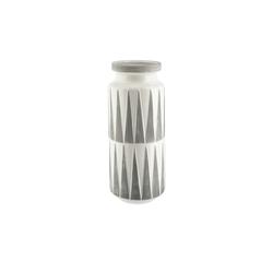 Vase ¦ grau ¦ Steinzeug Ø: 14