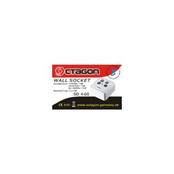 Octagon SD 4-00 SAT Twin Enddose 4fach Rahmen & Deckel
