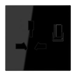 Jung LS4171GISWSW,Abschaltbare Steckdose, Typ G+I, 13 A 250 V ~, Serie LS, schwarz