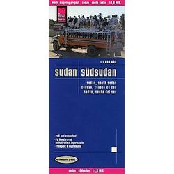 Reise Know-How Landkarte Sudan  Südsudan; Sudan  South Sudan; Saudan  Saudan du Sud; Sudán  Sudán del sur. Peter Rump Verlag  - Buch