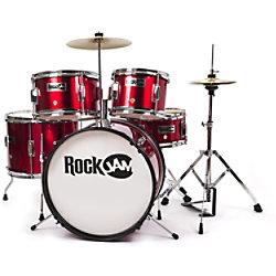 PDT Rockjam 5-teiliges Junior Schlagzeug Rot