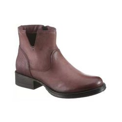 Bruno Banani Stiefelette Damen Leder Stiefeletten mauve Stiefel Winterstiefel Schuhe Boots 37