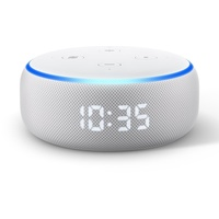 Amazon Echo Dot (3. Generation) mit Uhr sandstein