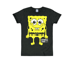 LOGOSHIRT T-Shirt mit Spongebob-Print Spongebob schwarz L
