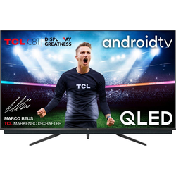 TCL 75C815 QLED-Fernseher (189 cm/75 Zoll, 4K Ultra HD, Android TV, integrierter ONKYO Soundbar, Android TV Sprachfernbedienung)