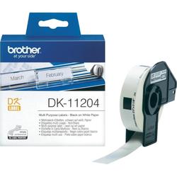 Brother DK-11204 Einzeletiketten - 17 x 54 mm (400 Etiketten)