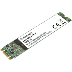 Intenso M.2 SSD Top SSD-Festplatte (128 GB) 520 MB/S Lesegeschwindigkeit, 500 MB/S Schreibgeschwindigkeit) 128 GB
