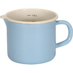 Emaille-Milchtopf mit Ausguss Serie SYLT, 12 cm