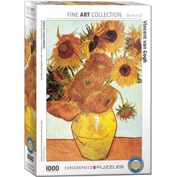 empireposter Puzzle Vincent van Gogh Sonnenblumen - 1000 Teile Puzzle - Grösse 68x48 cm, 1000 Puzzleteile