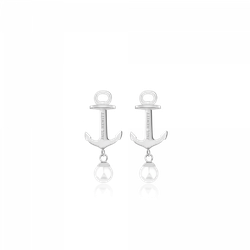 Ohrstecker Anchor Pearl Silber Pearl