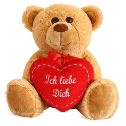 matches21 HOME & HOBBY Plüschfigur Teddybär Herz Herzteddy Ich Liebe Dich (1-St)