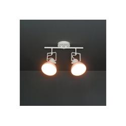 Licht-Erlebnisse Deckenstrahler DALLAS Spot Lampe Deckenstrahler Weiß Metall retro Wohnzimmer Lampe