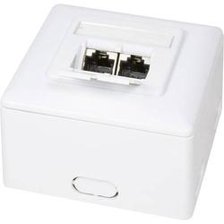LogiLink Netzwerkdose Aufputz CAT 6 2 Port Weiß