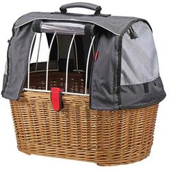 KlickFix Fahrradkorb Weidenkorb Doggy Basket Plus