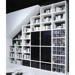 Toro Regalsysteme für Dachschrägen Hochglanz mit Türen nach Maß planen