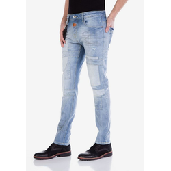 Cipo & Baxx Slim-fit-Jeans mit Aufnäher 29