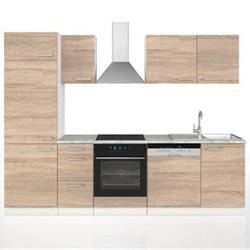 Vicco Küche 270 cm Küchenzeile Küchenblock Einbauküche Sonoma