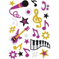 Sticker Magic Musik Glittery VE=1 Blatt