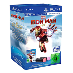 Sony PlayStation PS4 Marvel's Iron Man VR Game + 2 x PS Move Motion Controller