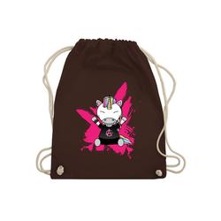 Shirtracer Turnbeutel Punk Einhorn - Einhörner - Turnbeutel - Jutebeutel & Taschen, rosa turnbeutel einhorn