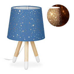 Tischlampe Kinderzimmer Sterne mint