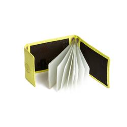 Nuvola Pelle Visiten- und Kreditkartenetui Damen Herren aus Leder 8 Klarsichtfächer im Kreditkartenformat Gelb