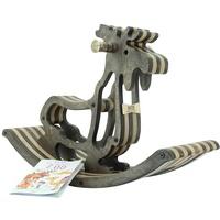 myToys Sweety Toys 11179 hochwertiges Designer Schaukelpferd Elch Elmond Dunkelbraun-