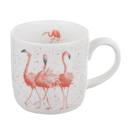 Royal Worchester WD Flamingo Tasse 31 cl Weiß