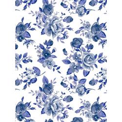 décopatch Motivpapier Papier Bloomy Blue, 3 Stück